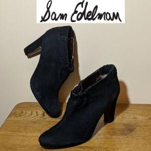 Sam Edelman Simone Black Leather Ankle Booties 9M